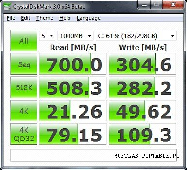 CrystalDiskMark 5.2.1 Portable