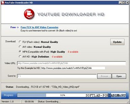 YouTube Downloader HD 2.6.0 Portable