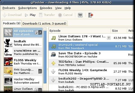 gPodder 3.9.2 Portable