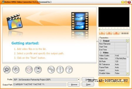 Active MPEG Video Converter 1.9.2 Portable
