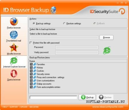ID Browser Backup 1.2 Portable