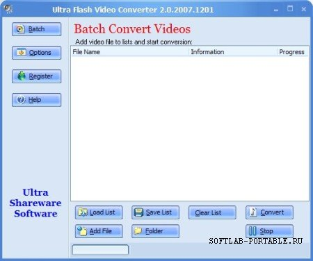 Ultra Video To Flash Converter 2.0.2007.1201 Portable
