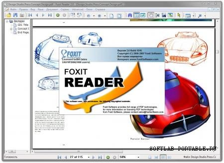 Foxit Reader 6.1.2.1224.1 Eng Rus Portable