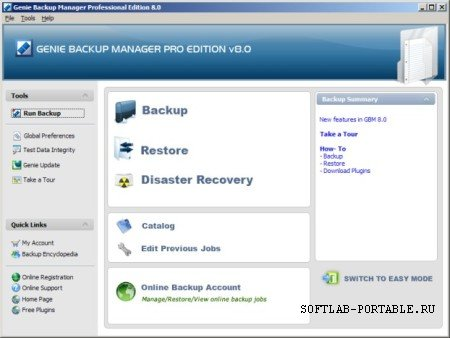Genie Backup Manager Pro 8.0 Portable