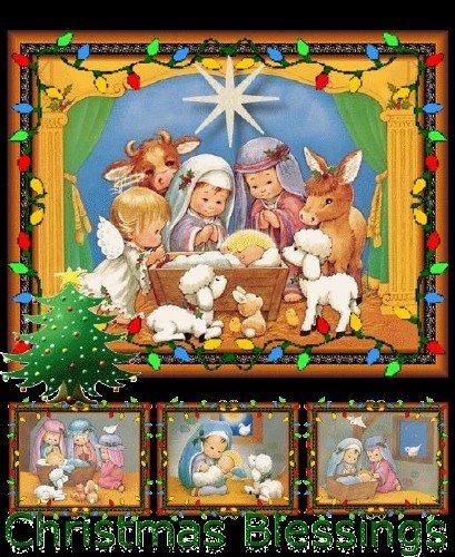 Рождественские и новогодние открытки (анимированные)