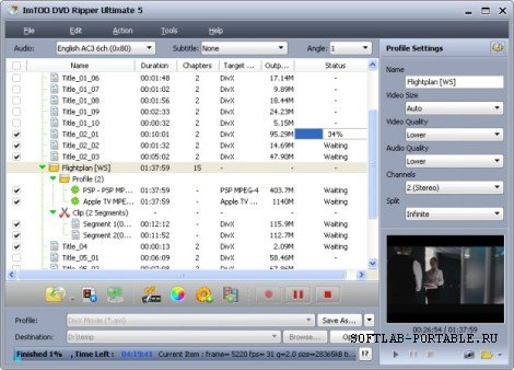 ImTOO DVD Ripper Platinum 5.0.46 Build 1219 Portable