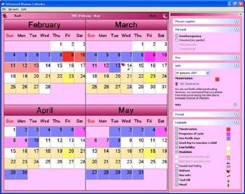 Advanced Woman Calendar 2.7