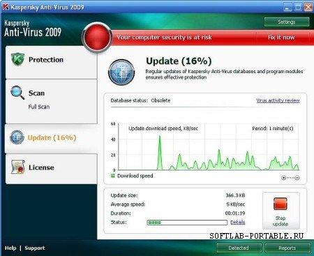 Kaspersky AntiVirus Portable 8.0.0.506 Rus