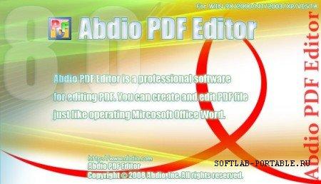 Abdio PDF Editor 8.8 Portable