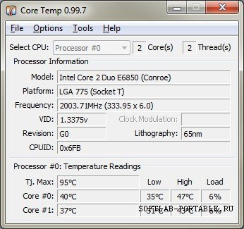 CoreTemp 1.13 Final Portable