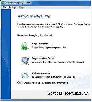 Auslogics Registry Defrag 10.1.2 Portable