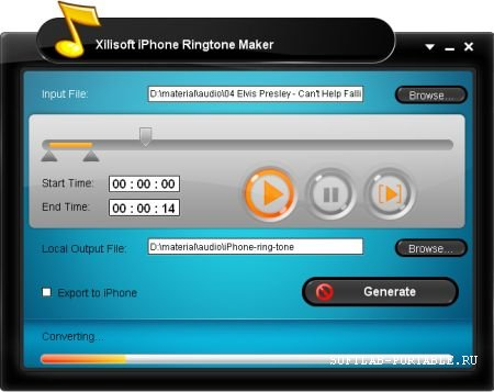 Xilisoft iPhone Ringtone Maker 3.2.12 Portable