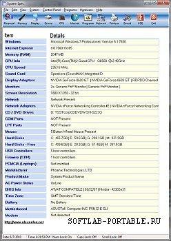 System Spec 3.09 Portable