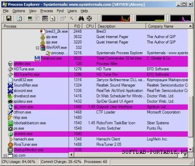 Process Explorer 16.25 Portable