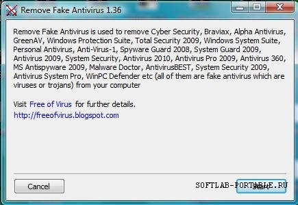 Remove Fake Antivirus 1.98 Portable