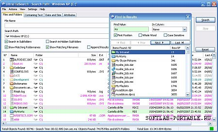 UltraFileSearch 5.2.0 Portable