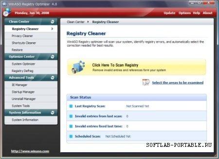 WinASO Registry Optimizer 5.6.1 Portable