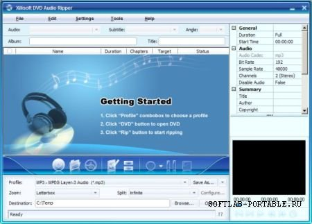 Xilisoft DVD Audio Ripper 7.7.2.20130122 Portable