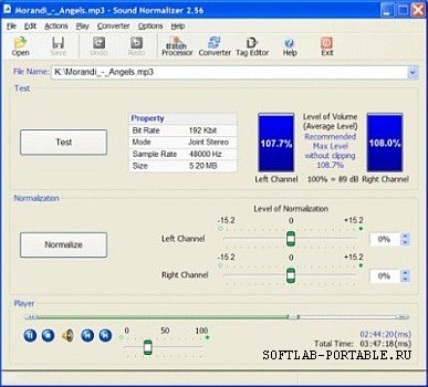 Sound Normalizer 7.5 Portable