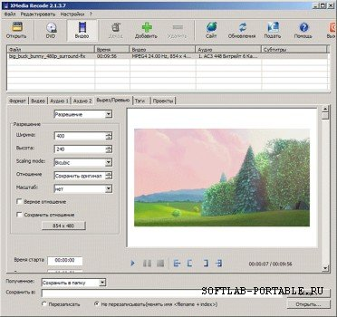 XMedia Recode 3.4.5.2 Portable