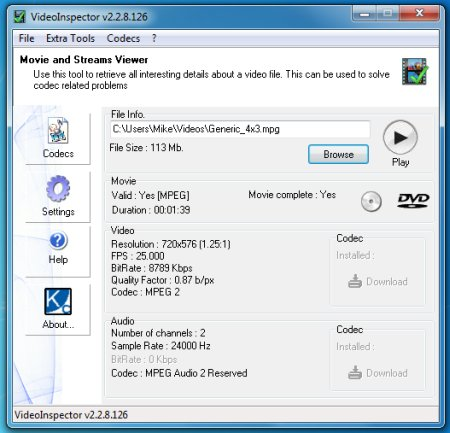 VideoInspector 2.15.0.144 Portable