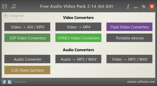 Pazera Free Audio Video Pack 2.16 Portable